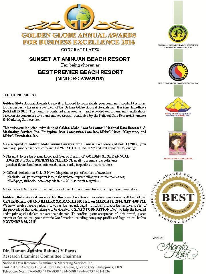 Well Done Sunset Resort Scuba For Change Puerto Galera